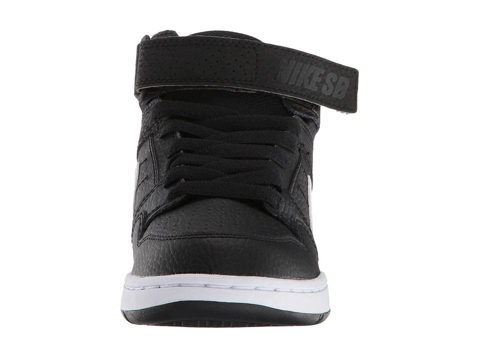 96697d66deb6 Nike SB Kids Mogan Mid 2 Jr (Little Kid Big Kid) Boys Shoes Black White
