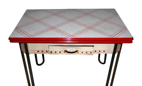 1940s Art Deco Enamel Metal Dining Table With Leaves Metal Dining Table Art Deco Kitchen Table Dining Table With Leaf