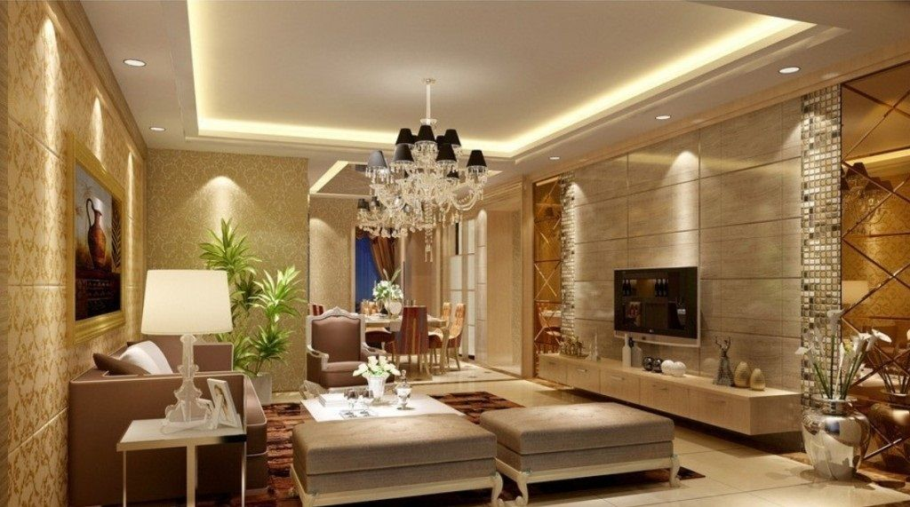 White Pop Ceiling Designs For Living Room Interiors