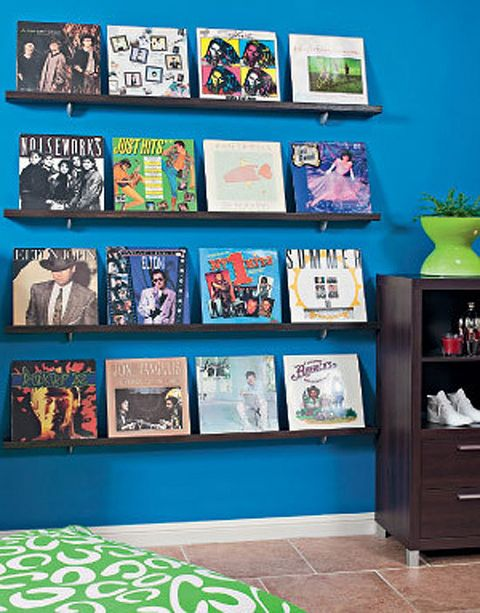 Best 25 making shelves ideas on pinterest diy wall for Vinyl records decorations for wall