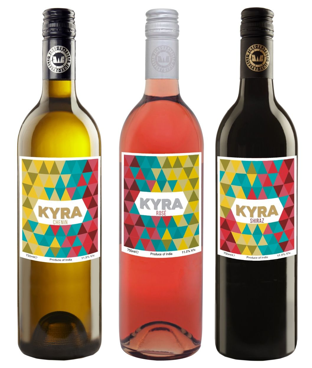 Label Design For Kyra Range Of Wines Chenin Rose And Shiraz From Fratelli Wines Wine Bottle Wines Label Design
