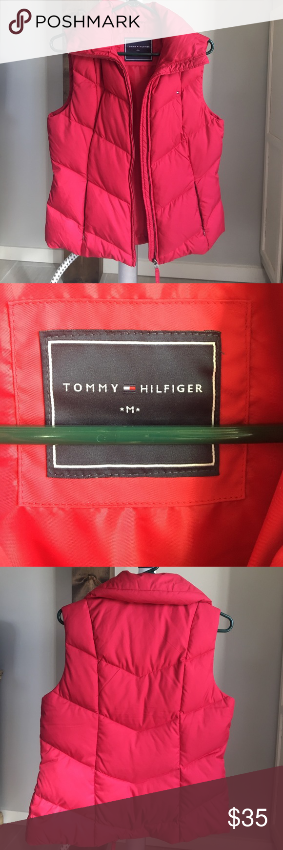 Tommy Hilfiger Puff Jacket Red Tommy Hilfiger Puff Jacket Tommy Hilfiger Jackets & Coats Puffers