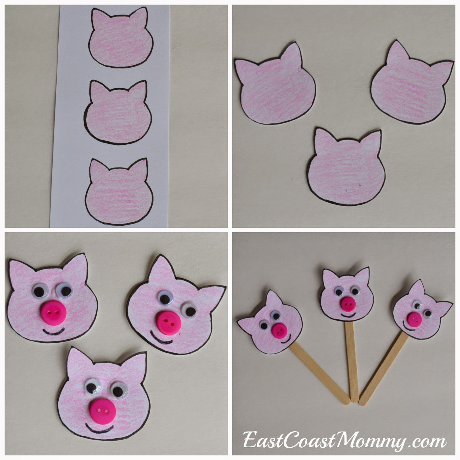 Number Crafts Number Three The Three Little Pigs Pig Crafts Little Pigs Three Little Pigs [ 1600 x 1600 Pixel ]
