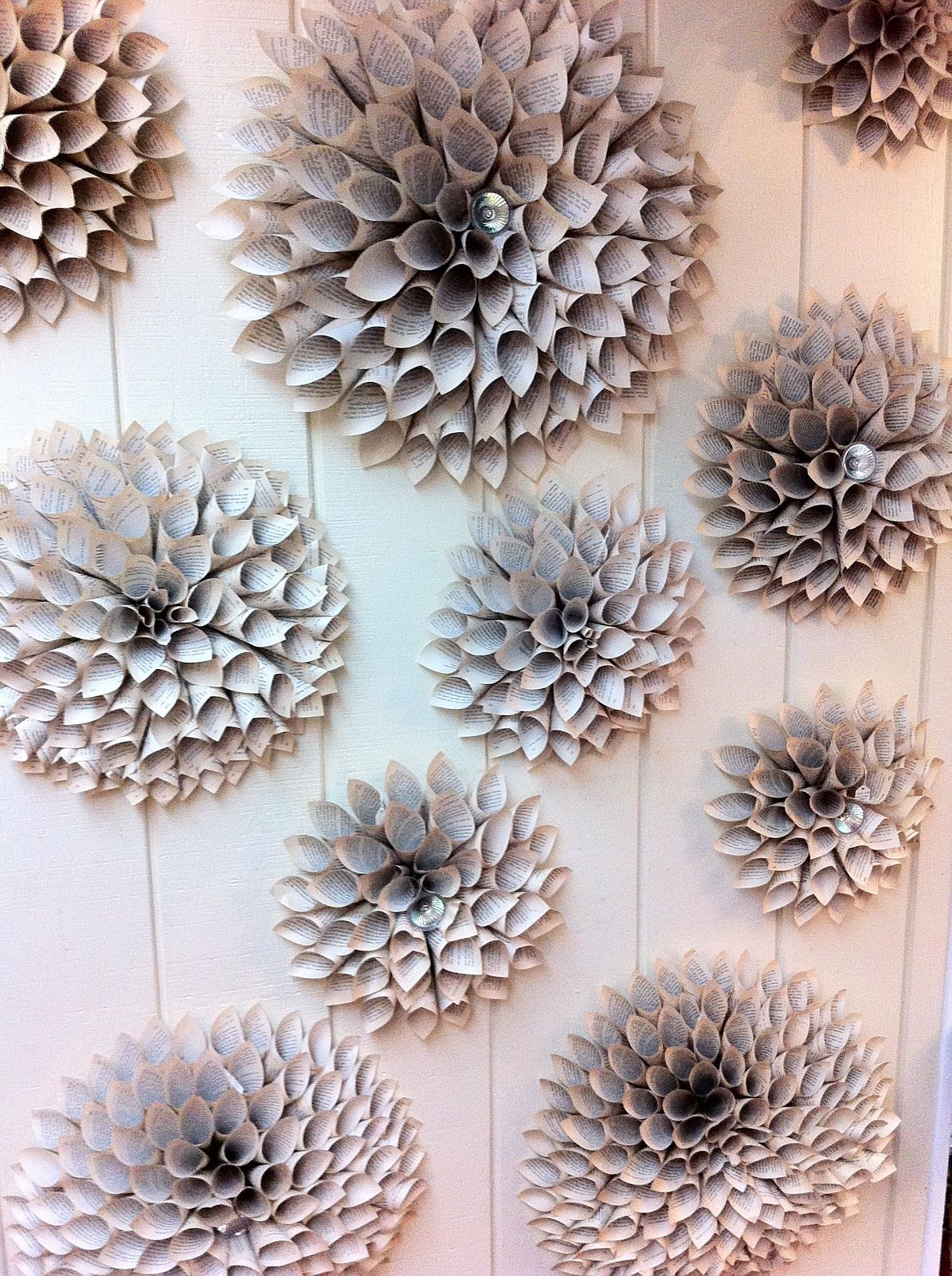 The enchanted petal how to make a paper flower medallion paper diy paper wall flowers by stein your florist co i could do this with clay and fire individually then do a really nice detailed paint scheme and fire it dhlflorist Images