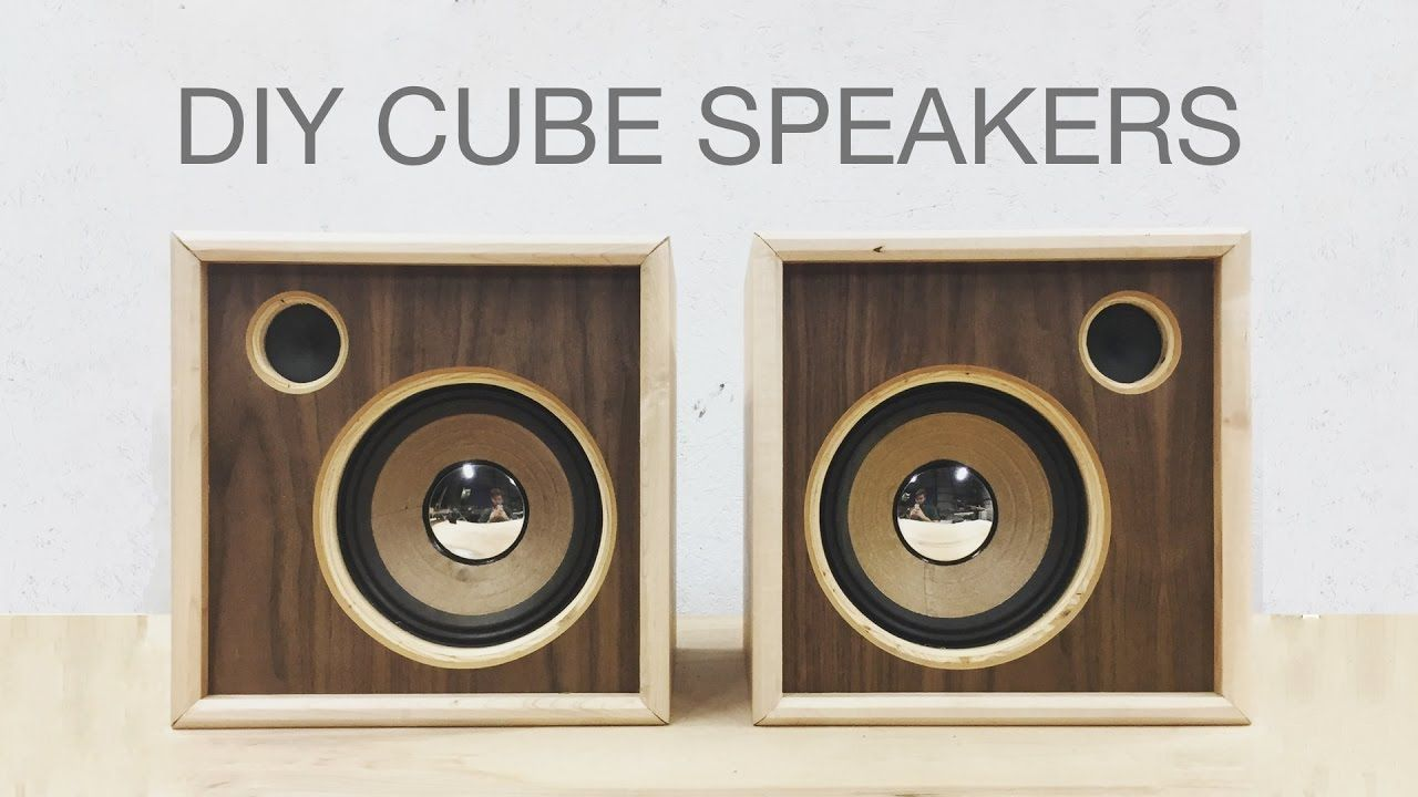 Diy Wooden Cube Speakers Upcycling Old Speakers Modern Builds