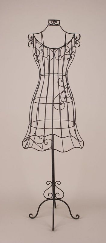 8621f47a75acd Decorative dress form (I love wrought iron!)