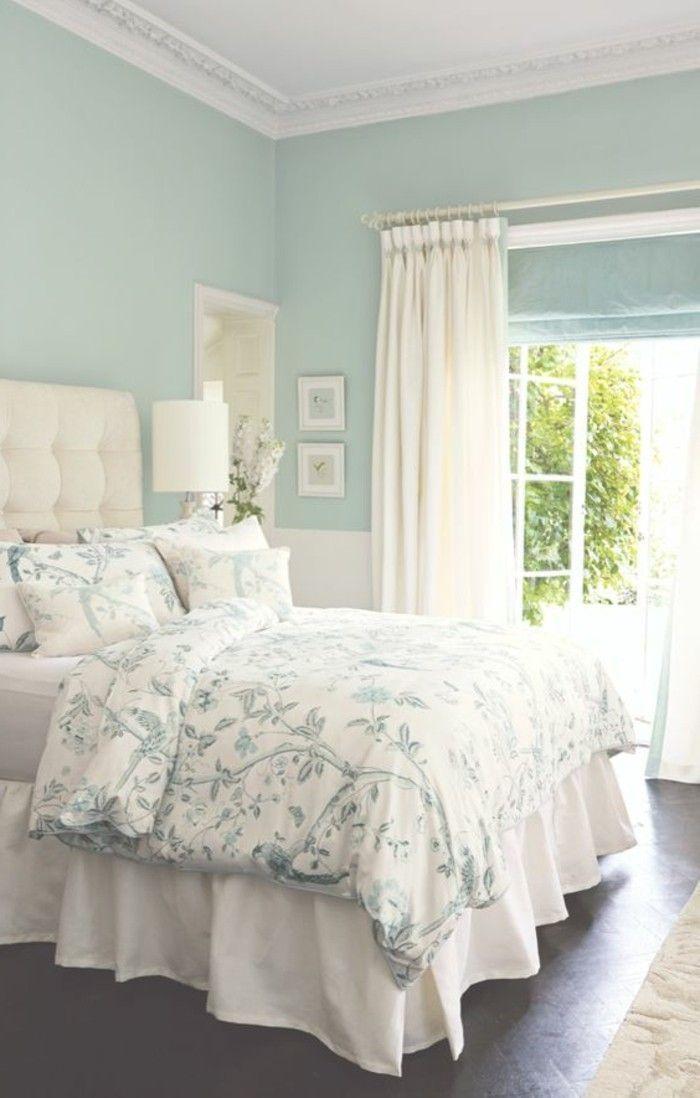 Wanddeko Schlafzimmer Beruhigende Blaue Farbe