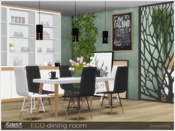 Severinka_'s ECO dining room (With images) | Sims 4 ...