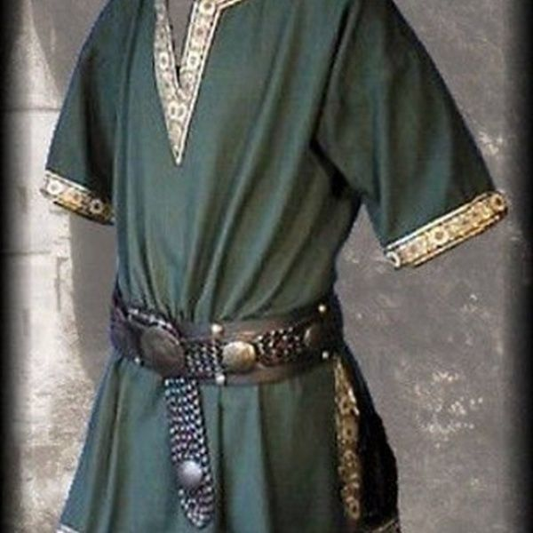 Men/'s Medieval Renaissance Tunic Top Shirt Knight Norseman Saxon Cosplay Costume