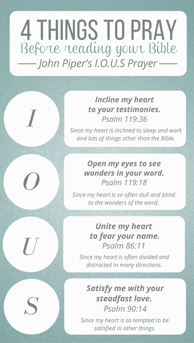4 Things To Pray Before You Read Your Bible