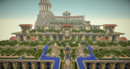 Hanging Gardens Of Babylon Gardens Of Babylon Minecraft Palace Hanging Garden