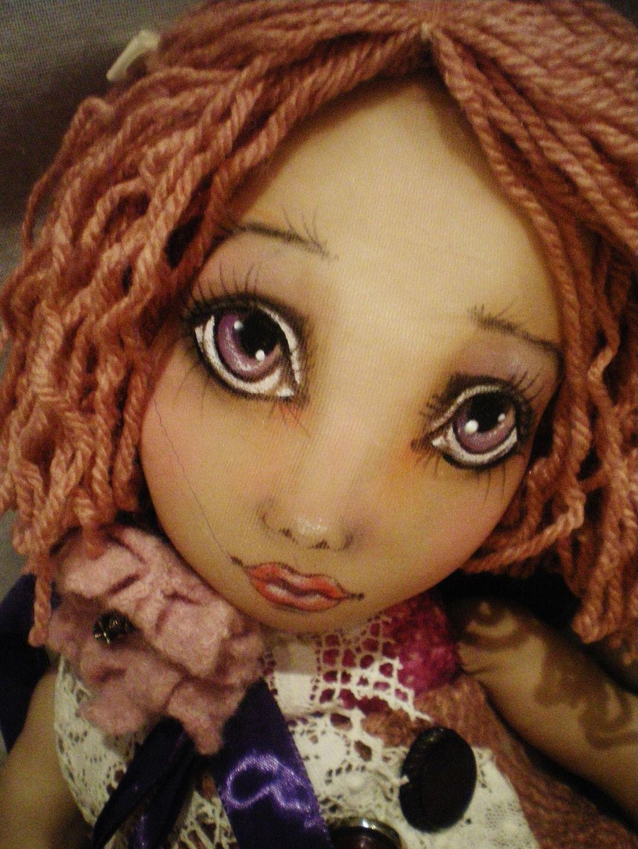 """grande poupée chiffon d'art """"Miss Candy-Lou Chou"""" collection décoration ooak : Sculptures, gravures, statues par peind-epices-crea"""