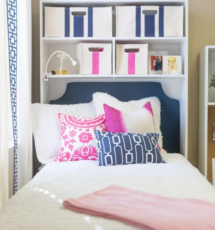Headboard Navy Twin Dorm Room Decor Girls Dorm Room