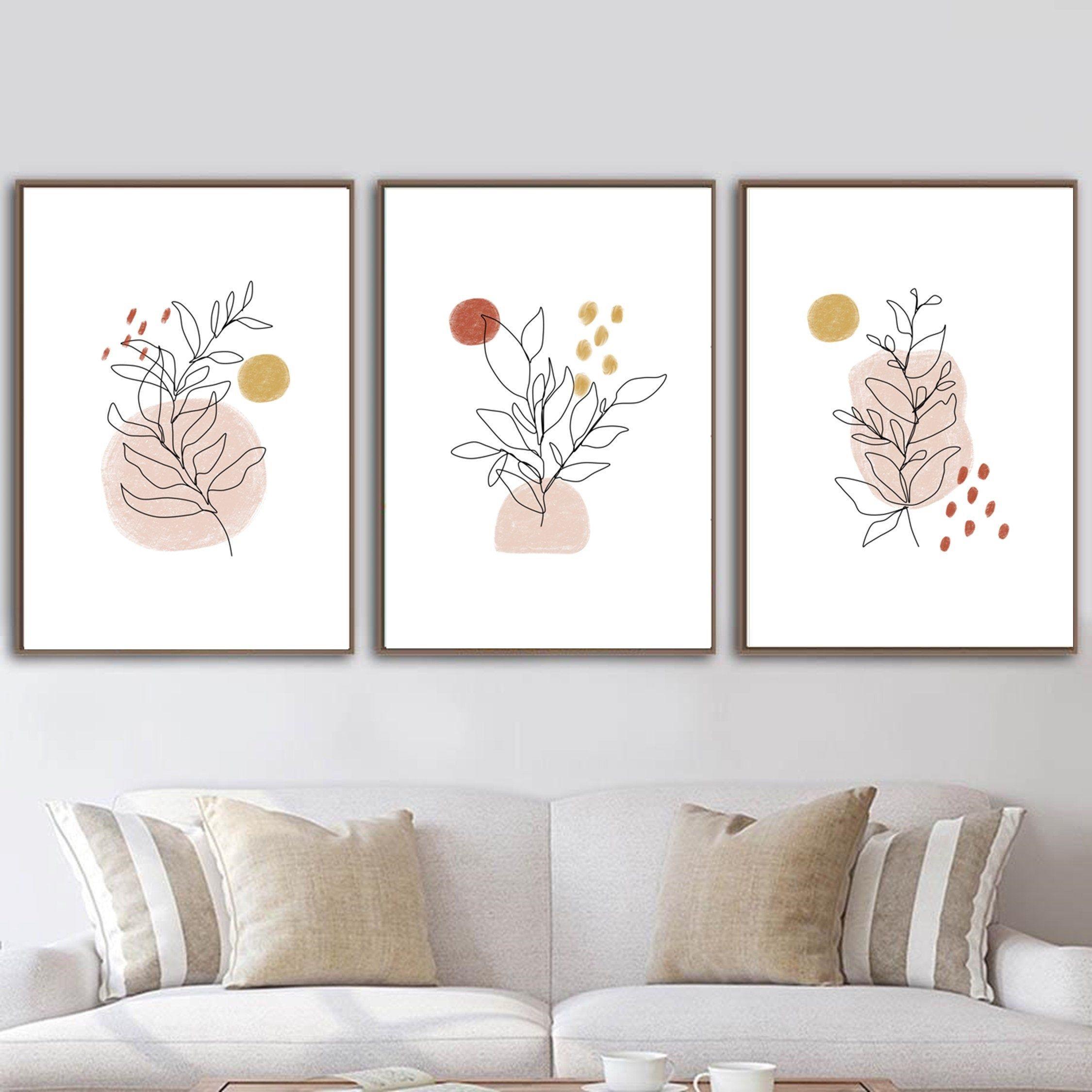 Boho Wall Decor Set Of 3 Prints Abstract Botanical Line Art Etsy In 2021 Boho Wall Art Wall Art Living Room Boho Wall Decor