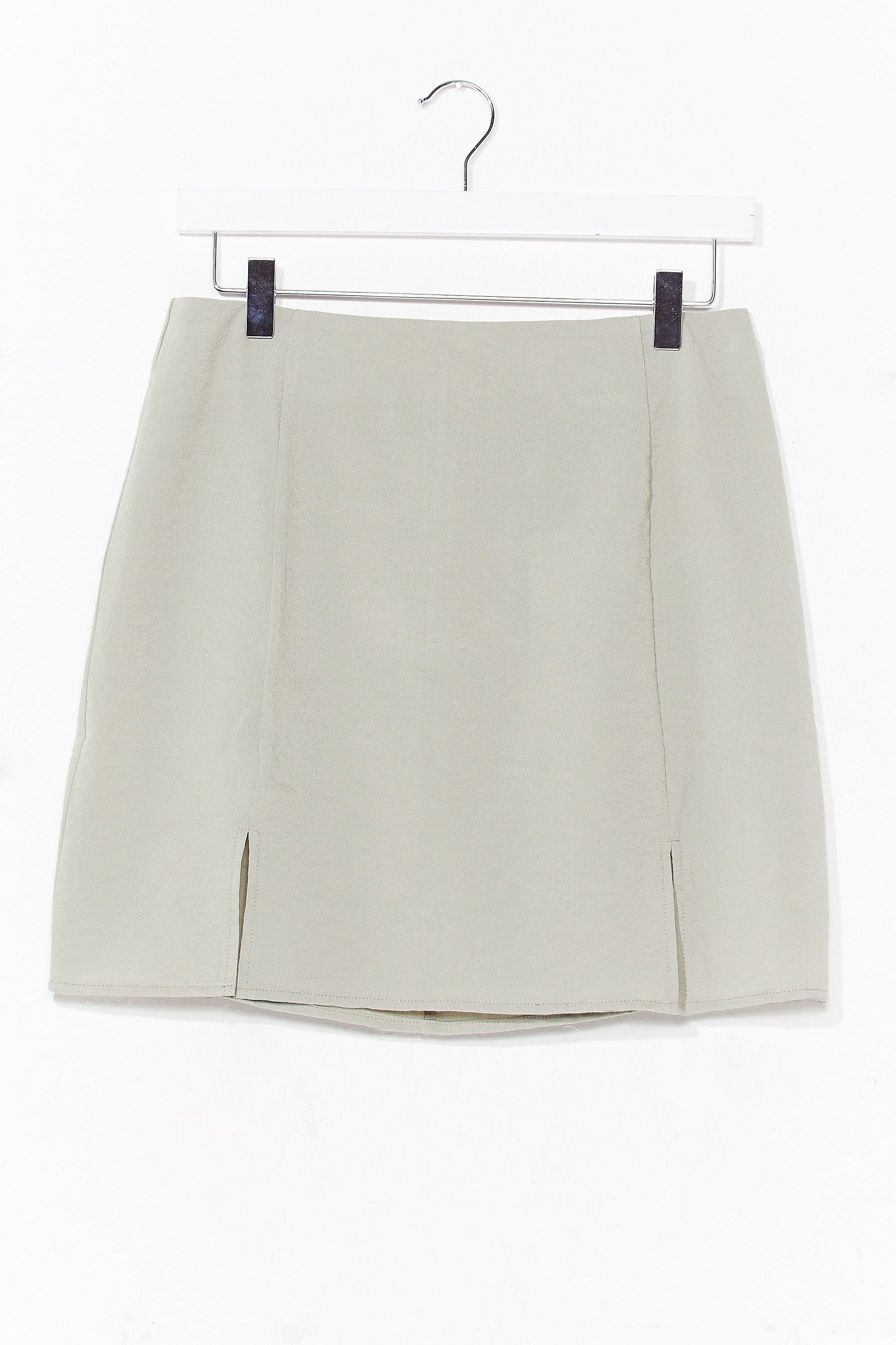 What's Slit Gonna Be High-Waisted Mini Skirt | Nasty Gal