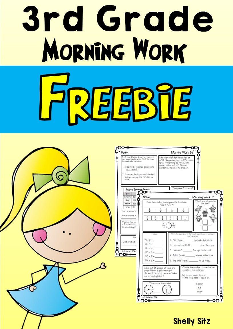 Morning Work for Third Grade (Third Quarter)   Teaching third grade [ 1152 x 816 Pixel ]