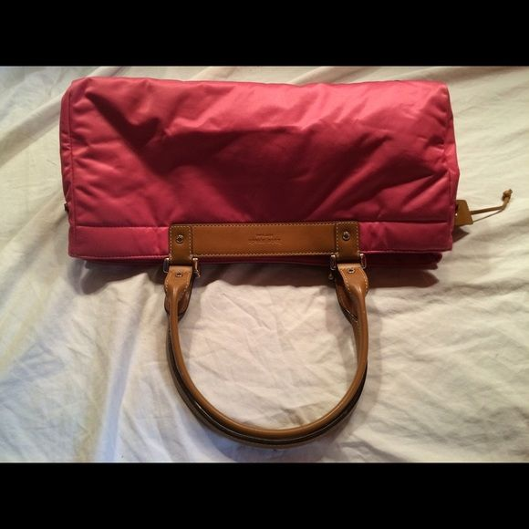 Kate Spade Pink Satchel Shoulder Bag Great Condition. Measures about 12 inches across. Monogrammed hardware kate spade Bags Satchels