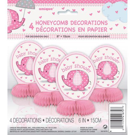 Use These Pink Baby Shower Honeycomb Decorations To Decorate Your Party  Tables, Snack Tables And Gift Tables.