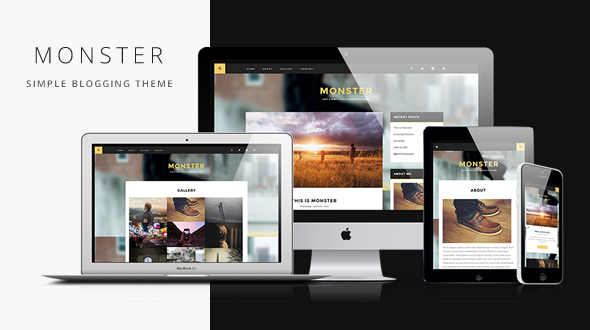 Monster – Simple Blogging Responsive WordPress Theme | Wordpress ...