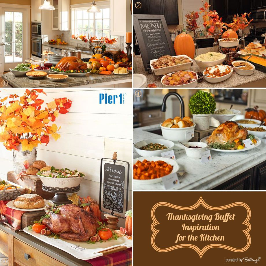 Easy Thanksgiving Buffet Table Display Ideas At Home Thanksgivinghow To Set  Up A Thanksgiving Buffet At