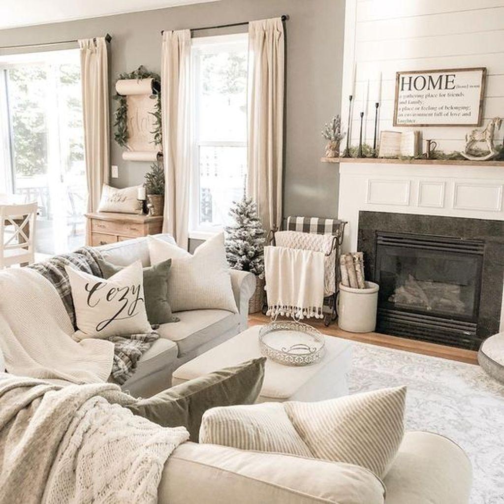 50 Super Winter Einfache Wohnzimmer Dekor Ideen, die Sie ausprobieren müssen