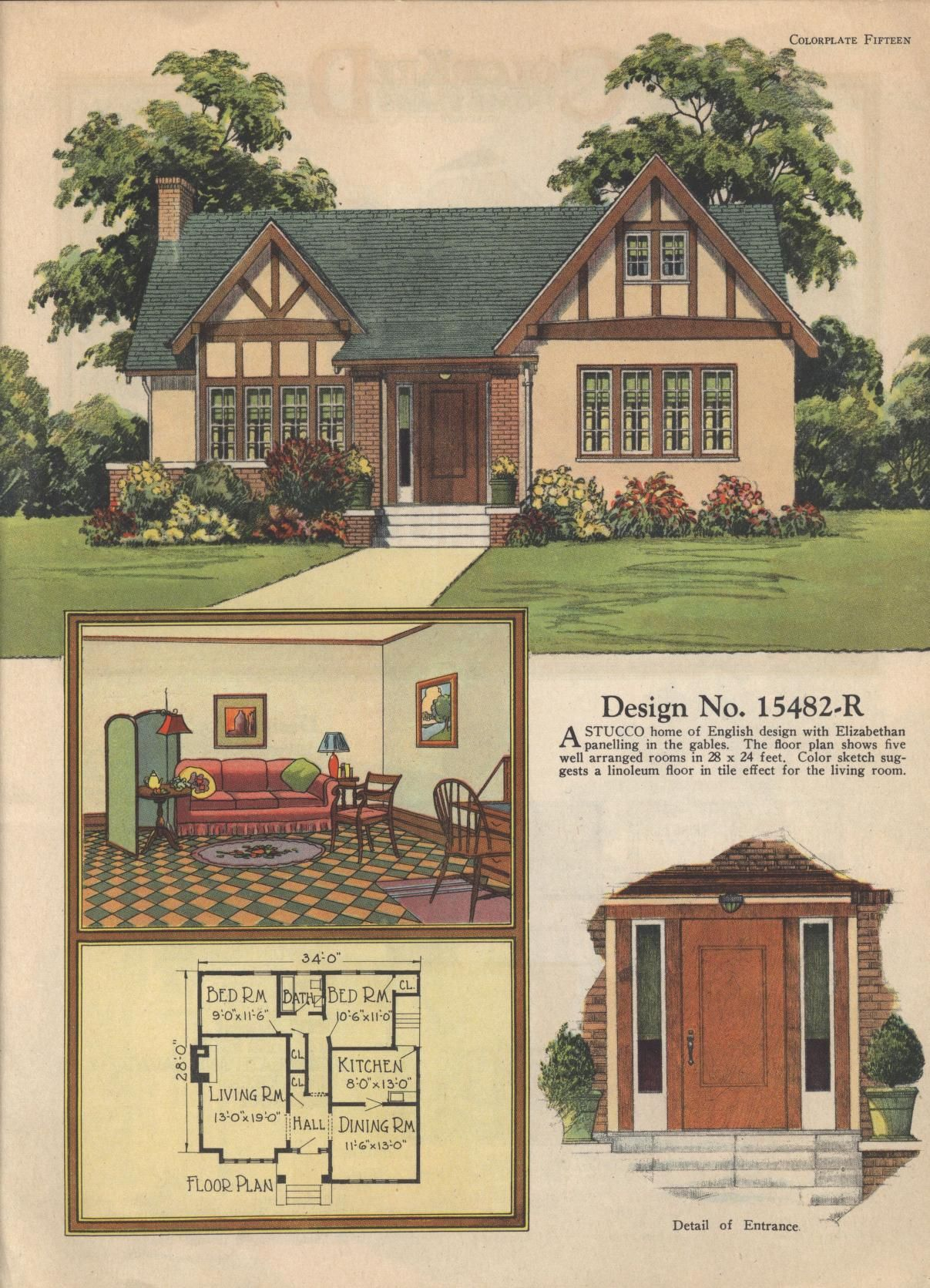 Colorkeed home plans radford 1920s vintage house plans for Classic tudor house plans