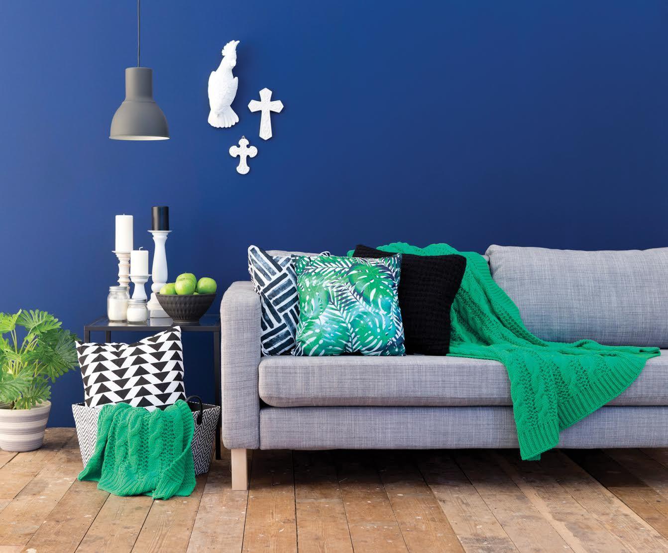 parede azul