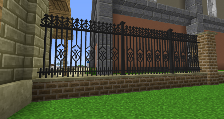 Minecraft Chisel And Bits Mod Fence Inspiration Minecraft Houses