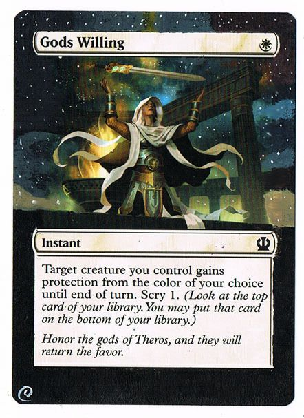MTG Altered Painted God's Willing Theros  #WizardsoftheCoast