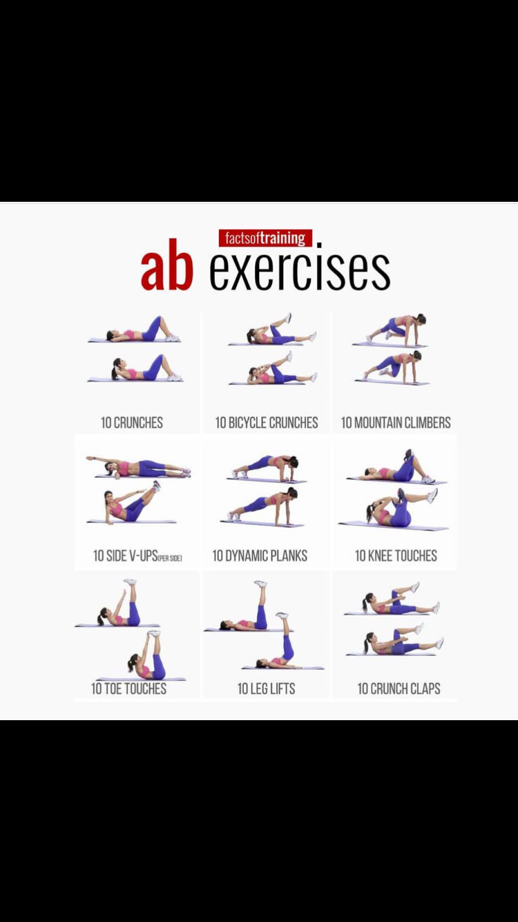 8 Minute Abs Workout Poster For Women