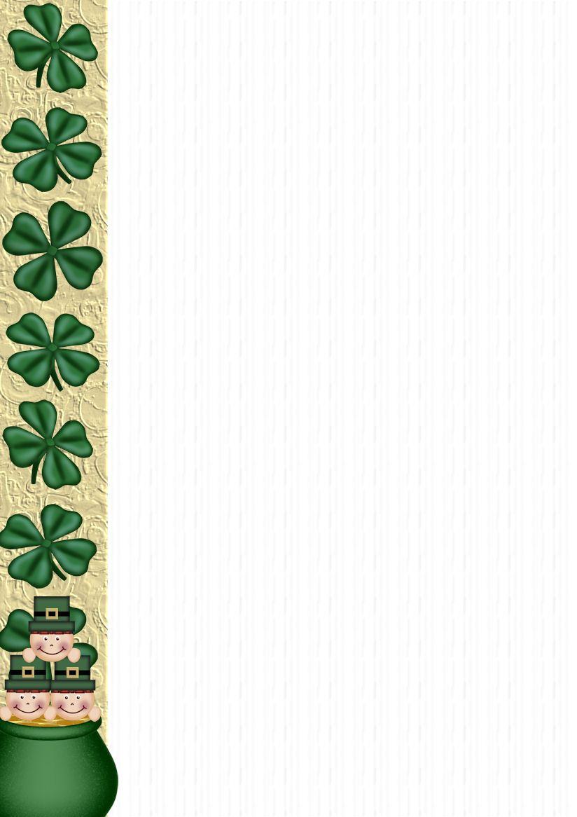 Free Stationery Com St Patrick S Day A4 Template Downloads Printable Stationery St Patricks Day Stationery