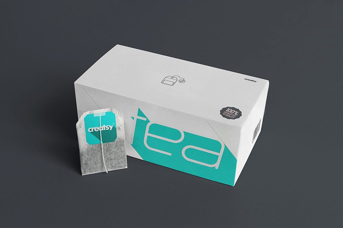Download Tea Box And Tea Bag Label Mockup Set Tea Box Design Tea Box Tea Bag