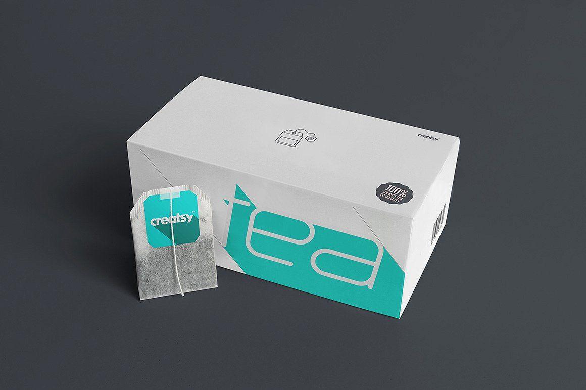 Download Tea Box And Tea Bag Label Mockup Set Tea Box Design Tea Box Tea Bag