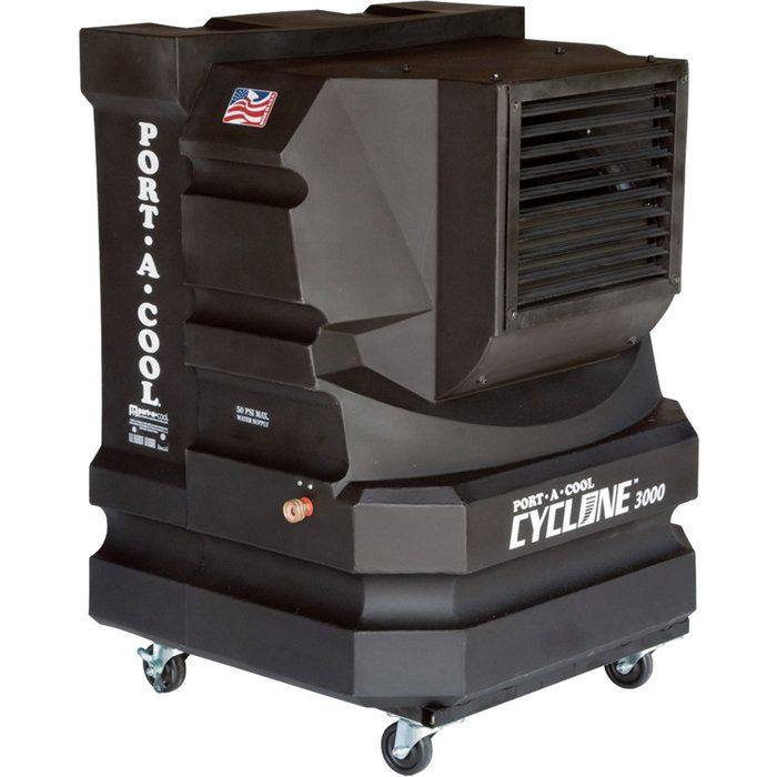 With The Compact Size And Minimal Footprint The Port A Cool Cyclone 3000 Is Ideal For Al Evaporative Cooler Outdoor Air Conditioner Portable Air Conditioners