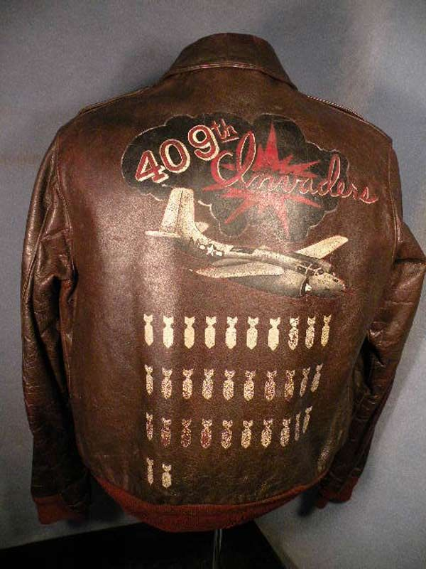 A-2 Bomber Jacket Art (WWII) - 409th INVADERS via RetroWaste.com ...