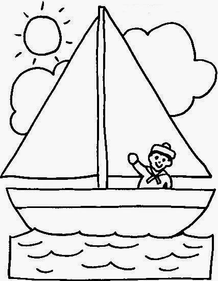 Pin De Mariafernanda En Medios De Transportes Barcos Para Colorear Dibujo De Barco Barcos Para Dibujar