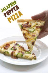 Low Carb Jalapeño Popper Pizza