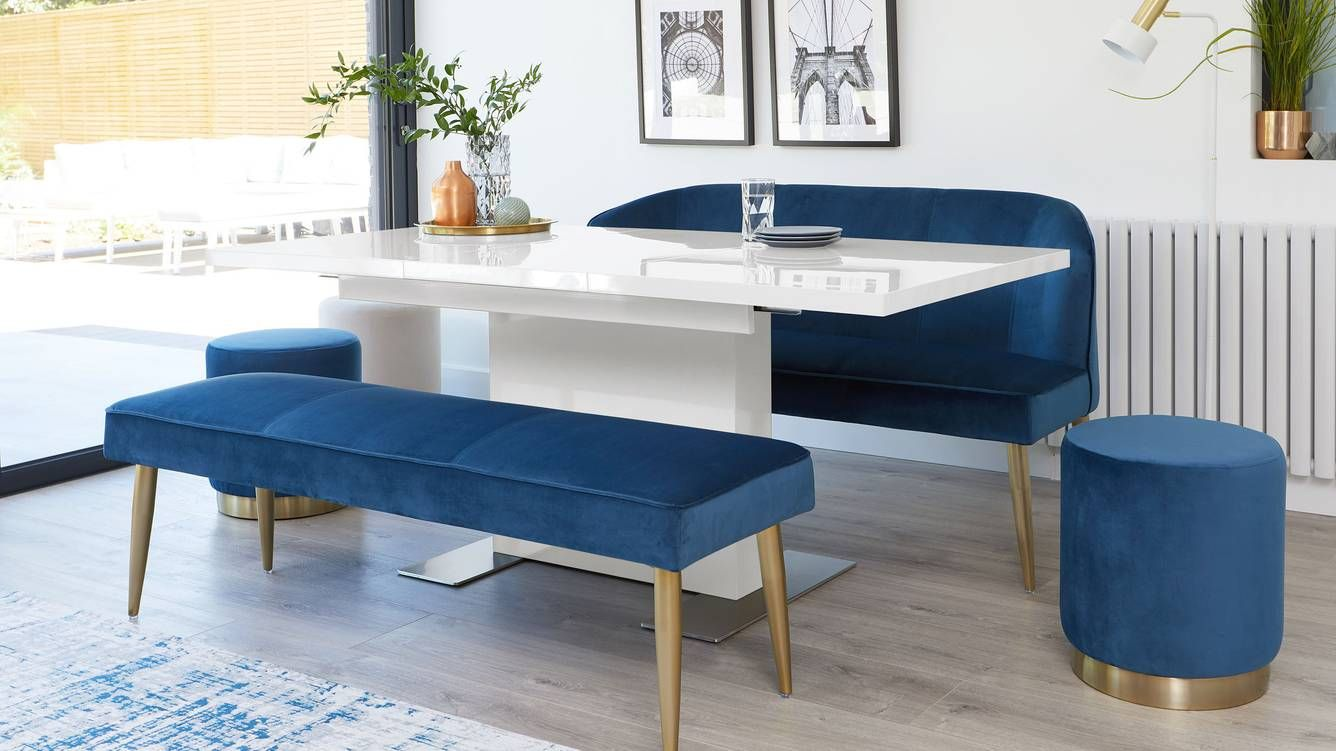 Sanza Small Extending White Gloss Dining Table In 2020 Four