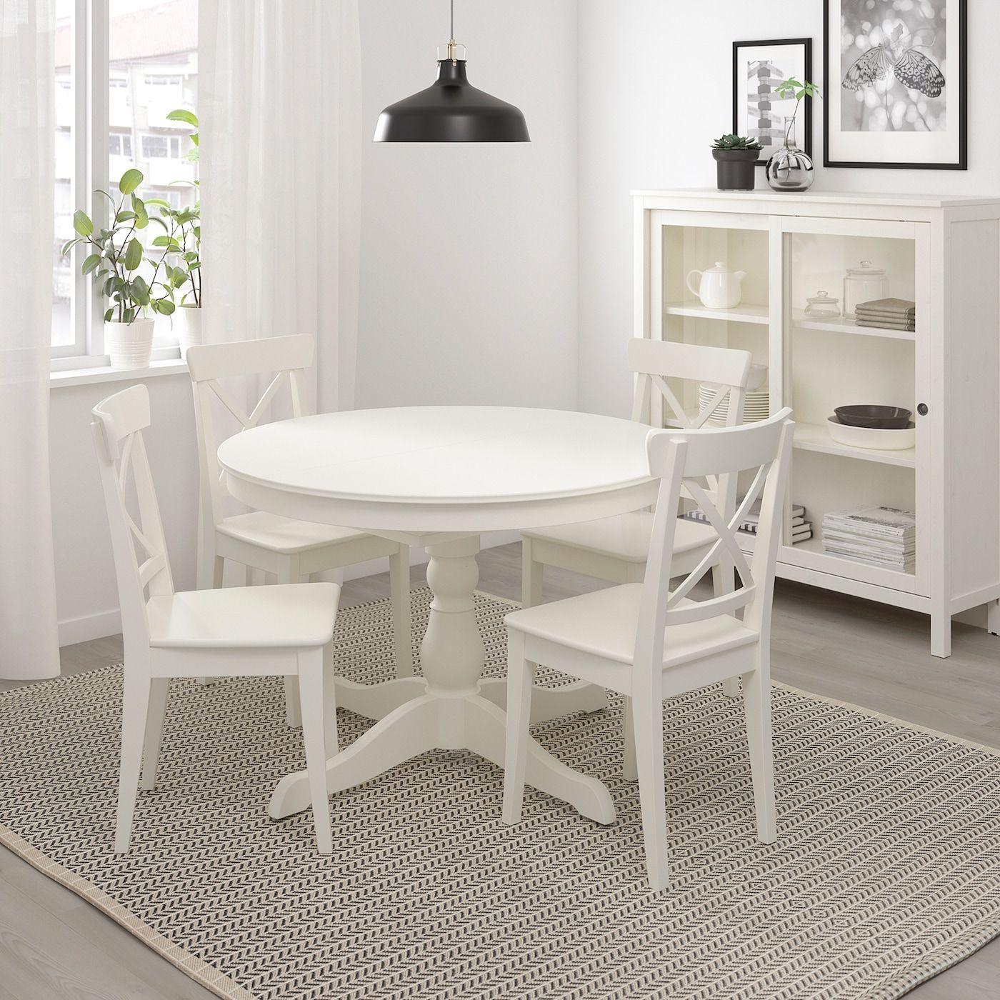 Ingatorp Extendable Table White 43 1 4 61 110 155 Cm En 2020 Salle A Manger Ikea Petite Table Cuisine Table Extensible Blanche