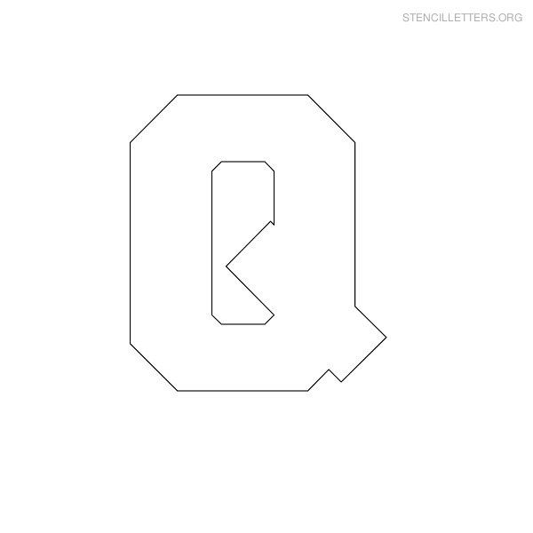 Free Printable Block Letter Stencils | Stencil Letters Q Printable