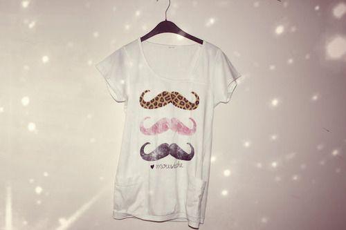 mustache shirt :{