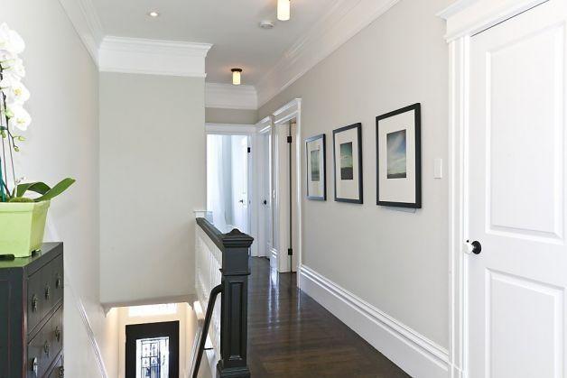 Love This Look For The Hallway Dark Floors White Trim Grey