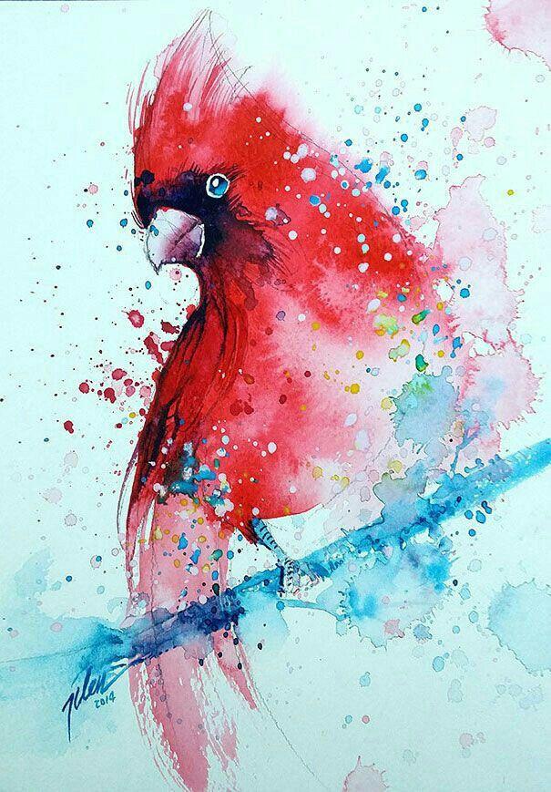 Idee Aquarelle Oiseau En Aquarelle Peinture Oiseau Animaux D