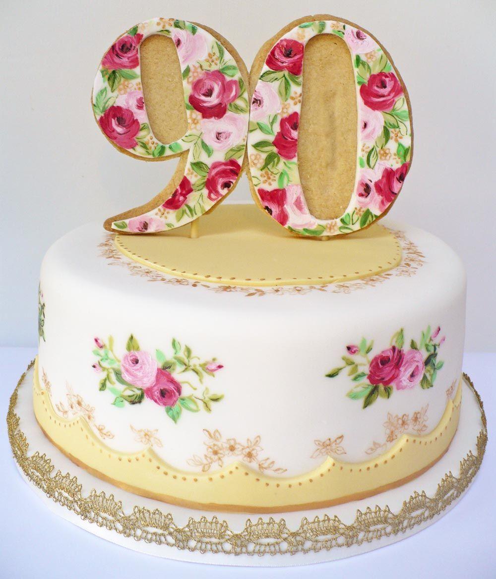 vintage birthday cakes 90th birthday cakes vintage cakes pie cake ...