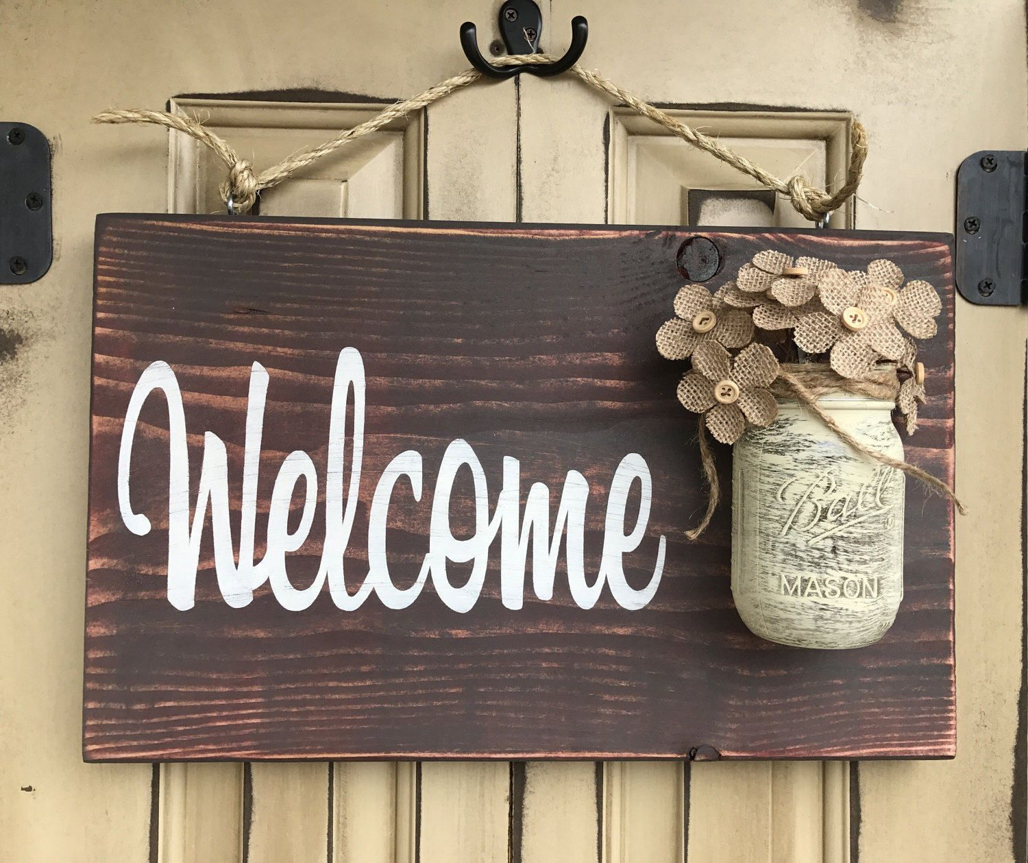 welcome signs diy - 736×617