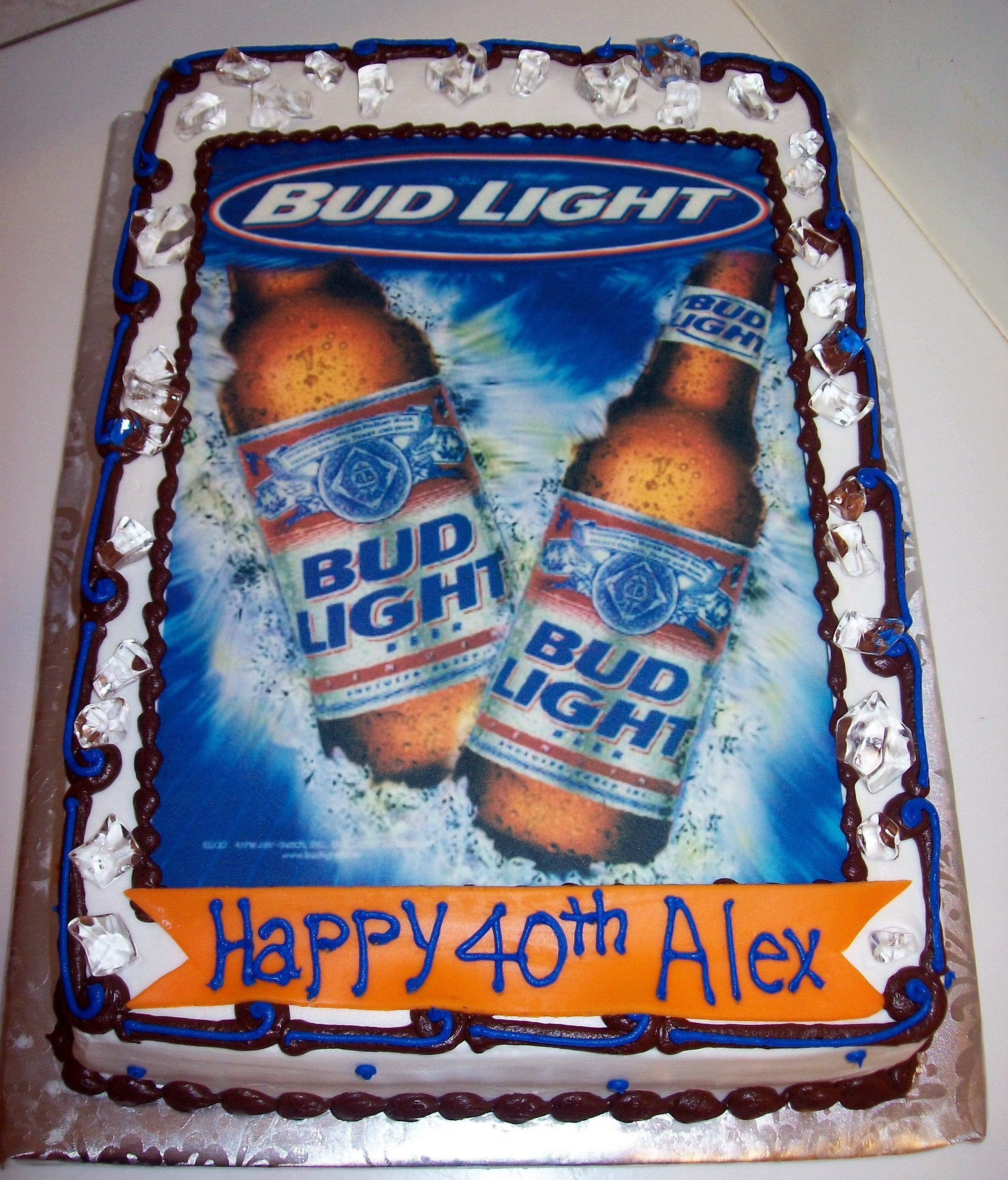 bud light birthday cakes bud light