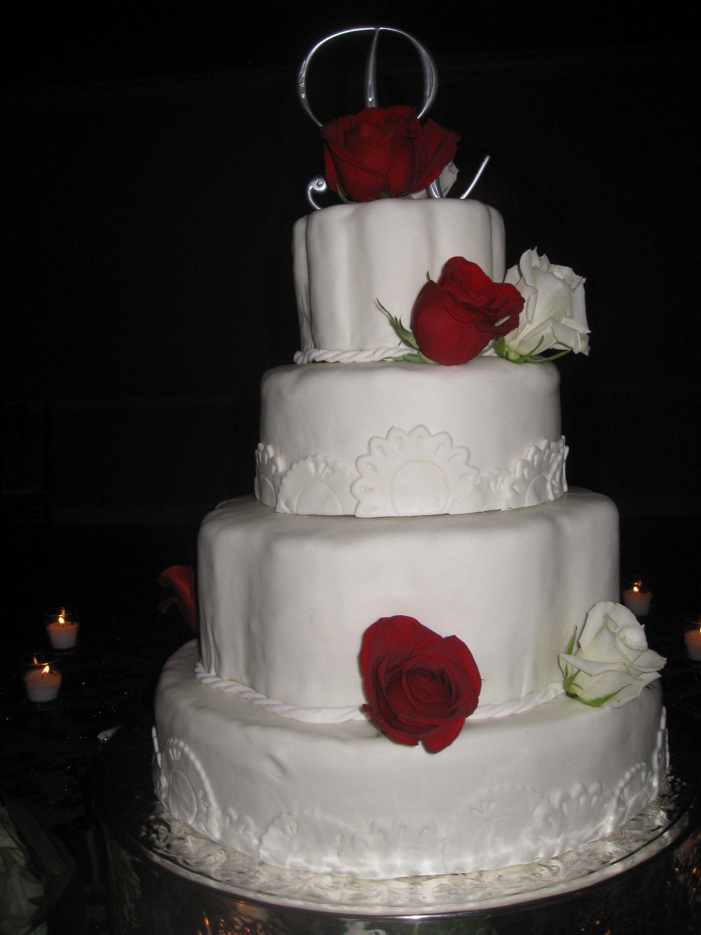Wedding Cake White Cake With Strawberry Filling Covered In Fondant Strawberry Cake Filling Strawberry Cakes Cake