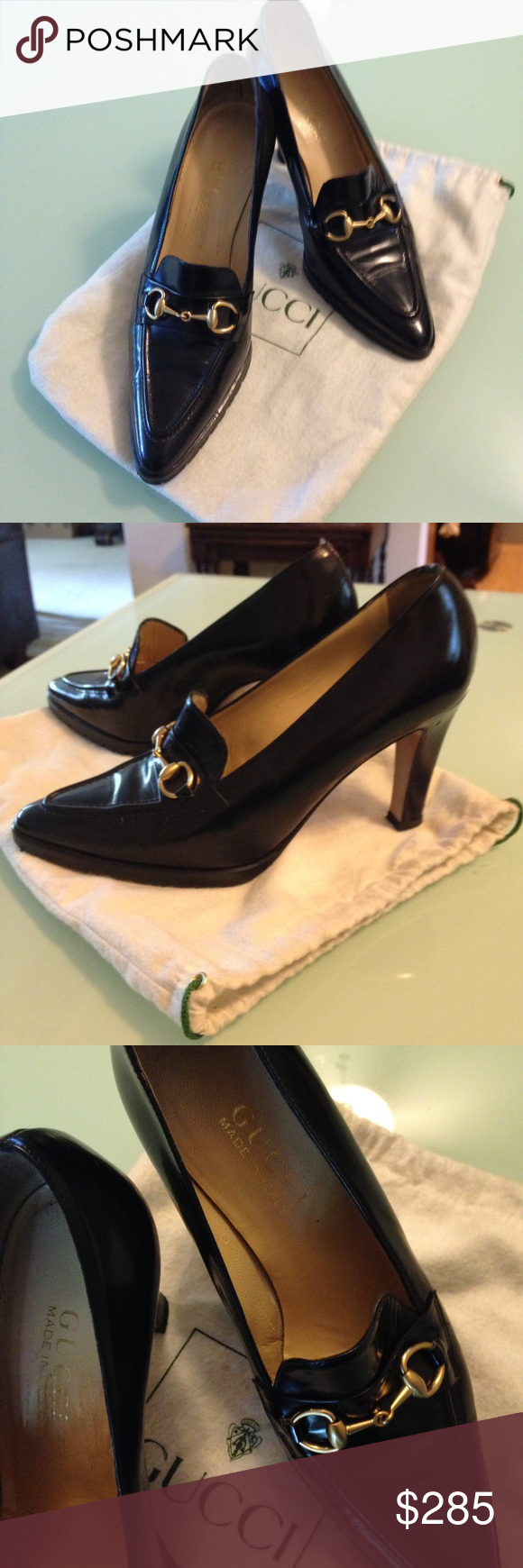 83bf1fcb863 Classic vintage Gucci shoes NWOT-I wore them in the house once! Original  dust