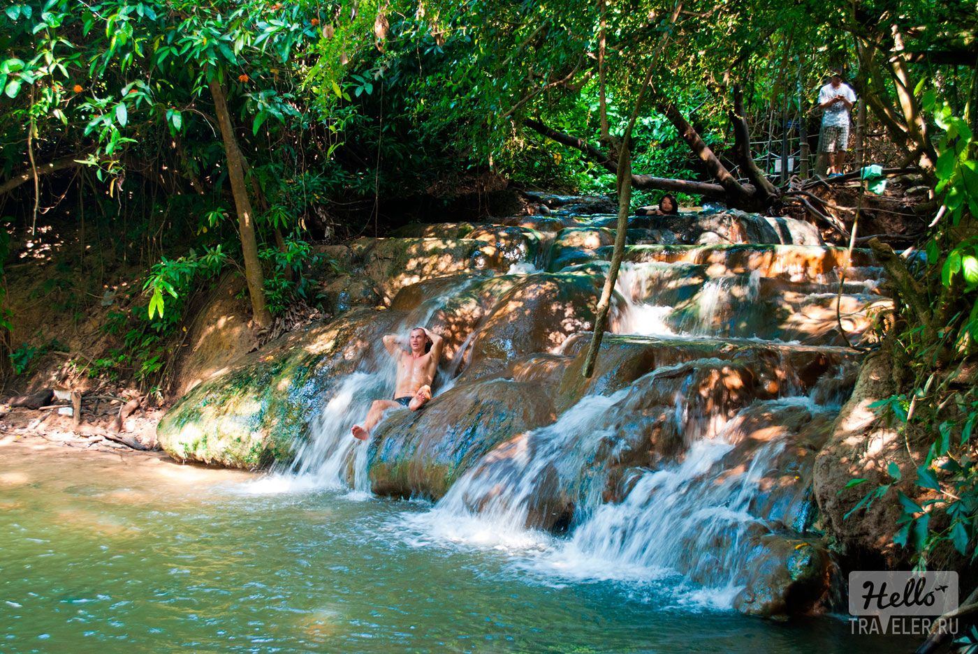 krabi hot spring waterfall