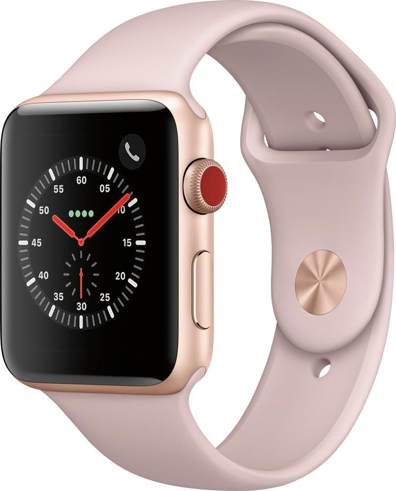 Best Buy Apple Watch Series 3 Gps Cellular 42mm Gold Aluminum Case With Pink Sand Sport Band Gold Aluminum At T Mqk32ll A Buy Apple Watch Apple Watch Series 3 Apple Watch